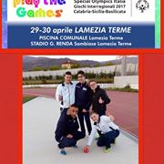 Road To Play The Games Atletica Nuoto  Lamezia Terme 2017